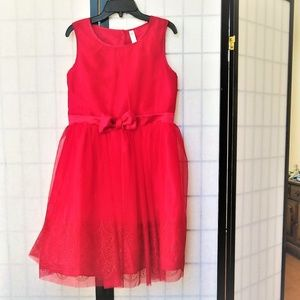 Cherokee Holiday Party Dress Girls 14/16 S/L Red